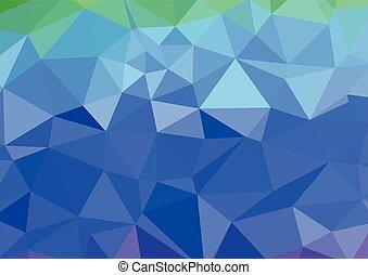 青いライト, polygonal, モザイク, 背景, ベクトル, イラスト, ビジネス, テンプレートを設計しなさい