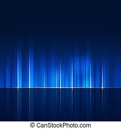 青いライン, 抽象的, 動的, 技術, 背景