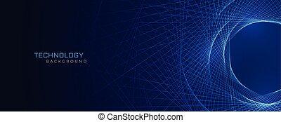 青いライン, 抽象的, 技術, 背景