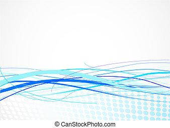 青いライン, 背景