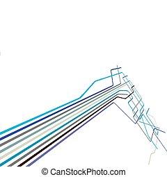 青いライン