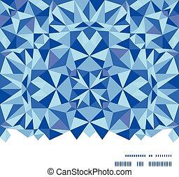 青い三角形, パターン, フレーム, seamless, 手ざわり, ベクトル, 背景, 横