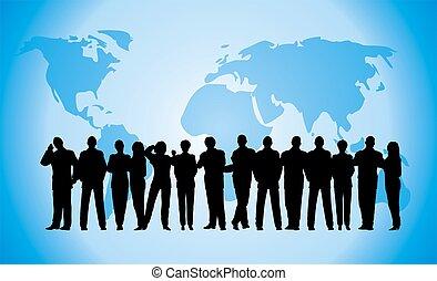 青い地球, ビジネス, 群集