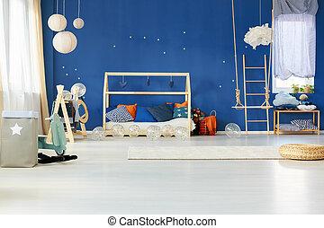 青い壁, 夢のようである, 寝室