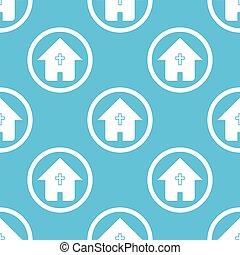 青い家, 印, キリスト教徒, パターン