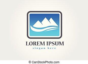 青い山, ロゴ