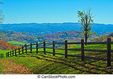 青い山, 峰, ヴァージニア