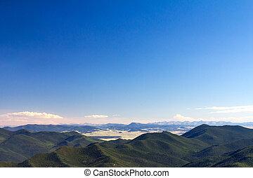 青い山, 空, colorado