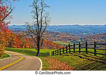 青い峰遊歩道, ヴァージニア