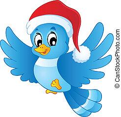 青い帽子, クリスマス, 鳥