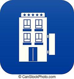 青い星, ホテル, 5, デジタル, アイコン