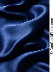 青い朱子織