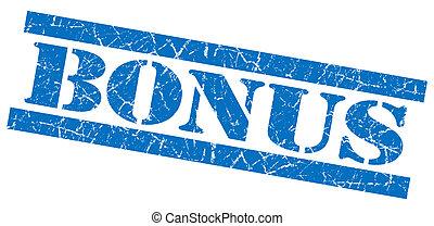 青い正方形, グランジ, ボーナス, 隔離された, 切手, textured, 白