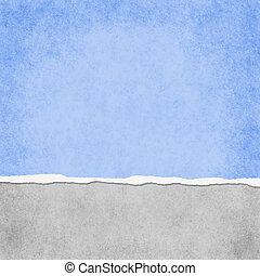 青い正方形, グランジ, ライト, 引き裂かれた, 背景, textured