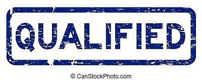 青い正方形, グランジ, 切手, ゴム, 制限された, 背景, シール, 白