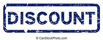 青い正方形, グランジ, 切手, ゴム, 割引, 背景, シール, 白