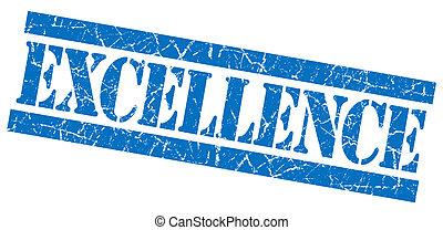 青い正方形, グランジ, 切手, 隔離された, 素晴らしさ, textured, 白