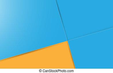 青い正方形, 背景