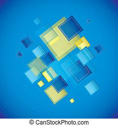青い正方形