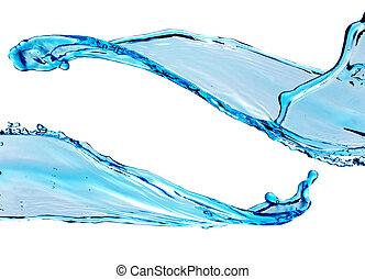 青い水, はね返し