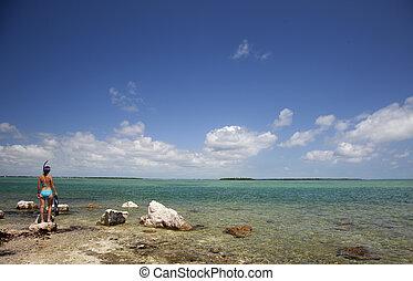青い水, ゆとり, snorkeling