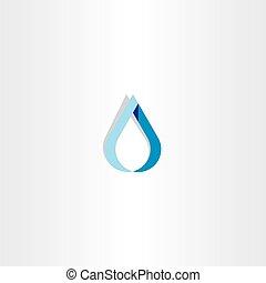 青い水, 低下, ロゴ, 印