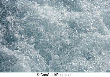 青い水, 手ざわり, 波, 泡, 行動, 海
