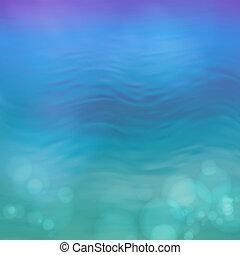 青い水, 抽象的, ベクトル, 背景