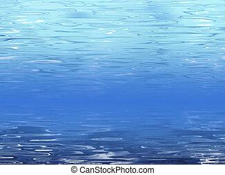 青い水, 抽象的, 背景