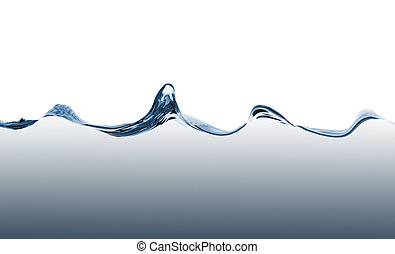 青い水, 波