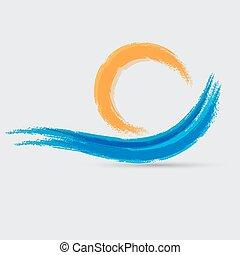 青い波, 印