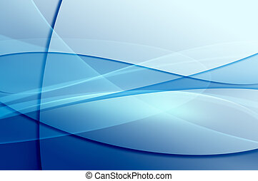 青い波, 抽象的, ベール, 手ざわり
