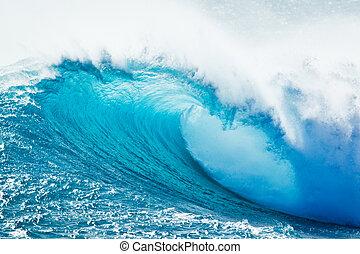 青い海洋, 波