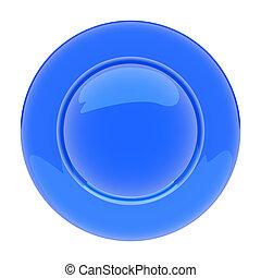 青い版, 隔離された, 背景, 白, 空