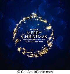 青い球, 創造的, きらめき, 背景, きらめき, クリスマス