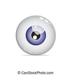 青い球, 目, すてきである