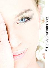 青い目である