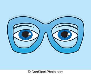 青い目, ガラス