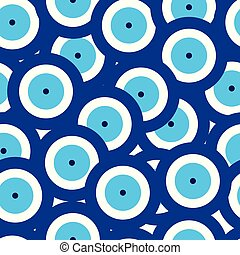 青い目, パターン, seamless, 悪, ベクトル