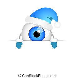 青い目, 悪, 陽気, 帽子, クリスマス