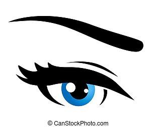 青い目, 隔離された