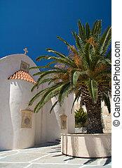 青い空, に対して, ギリシャ語, やし, 教会