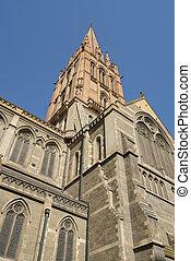 青い空, に対して, 教会