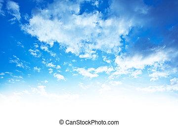 青い空, ボーダー, 背景
