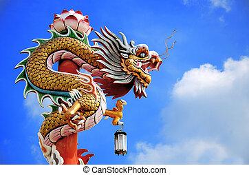 青い空, 中国のドラゴン