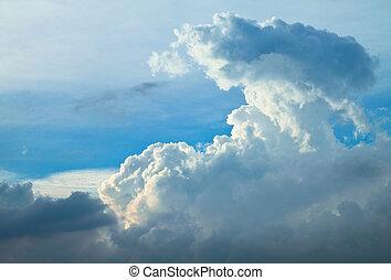 青い空, 劇的, 雲