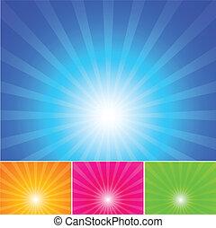 青い空, 太陽は放射する