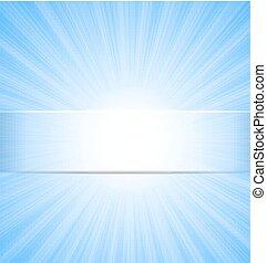 青い空, 抽象的, 太陽光線, 背景