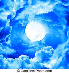 青い空, 月