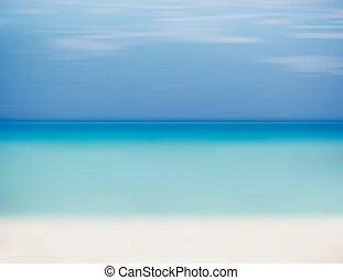 青い空, 砂の 海, 白い浜